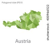 austria map in geometric... | Shutterstock .eps vector #400966522