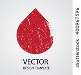 grunge logo shape. | Shutterstock .eps vector #400967596