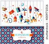Ramadan Kareem Icons Set Of...