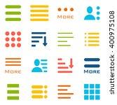 hamburger menu icons set. bar...