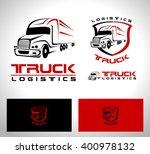 transportation truck logo... | Shutterstock .eps vector #400978132