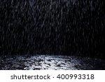 Dark Background Shot Of Rain...