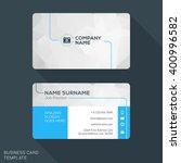 modern creative business card... | Shutterstock .eps vector #400996582