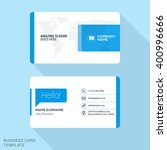 modern creative business card... | Shutterstock .eps vector #400996666