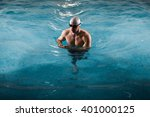 professional swimmer after the... | Shutterstock . vector #401000125