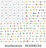 mega collection of geometrical... | Shutterstock .eps vector #401008156