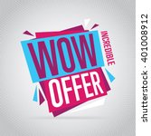 special offer sale tag discount ... | Shutterstock .eps vector #401008912