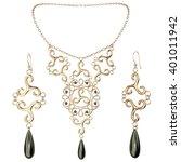 necklace 3 d rendering  | Shutterstock . vector #401011942