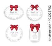 gift card. realistic vector...   Shutterstock .eps vector #401023702