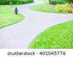 stone path way for walking... | Shutterstock . vector #401045776