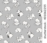 seamless pattern   funny...   Shutterstock .eps vector #401062255