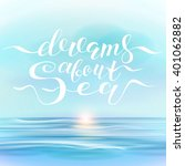 landscape and hand lettering ... | Shutterstock .eps vector #401062882