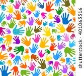 hands pattern illustration...   Shutterstock .eps vector #401065516