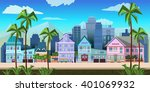 city game background 2d game...   Shutterstock .eps vector #401069932