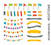 Collection Of Flags Garland....