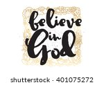 believe in god inspirational... | Shutterstock .eps vector #401075272