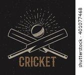 retro cricket club emblem... | Shutterstock .eps vector #401077468