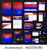 corporate identity template set.... | Shutterstock .eps vector #401078788