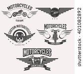 vintage custom motorcycle racer ... | Shutterstock . vector #401082892