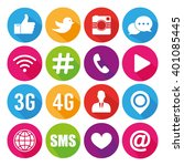 icons for social networking... | Shutterstock .eps vector #401085445