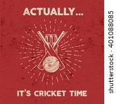 Retro Cricket Club Emblem...