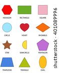 12 colourful shapes  | Shutterstock .eps vector #401089996