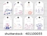 collection rustic labels with... | Shutterstock .eps vector #401100055