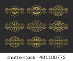 calligraphic design elements.... | Shutterstock .eps vector #401100772