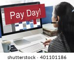 pay day economy salary money... | Shutterstock . vector #401101186