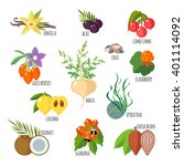 superfoods in flat style.... | Shutterstock .eps vector #401114092