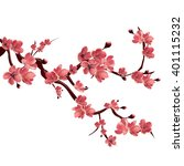 branch of rose blossoming...   Shutterstock . vector #401115232