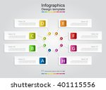 infographic design template... | Shutterstock .eps vector #401115556
