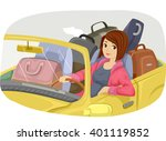 illustration of a teenage girl... | Shutterstock .eps vector #401119852