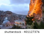 Night View Of Maaloula  A Town...