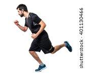sportman running fast | Shutterstock . vector #401130466