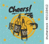 sketched styled quote beer  ... | Shutterstock .eps vector #401133412