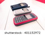 old mobile phone of different... | Shutterstock . vector #401152972