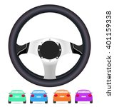 realistic steering wheel and... | Shutterstock .eps vector #401159338