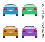 set of back of cars in vector... | Shutterstock .eps vector #401161372