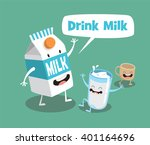 funny milk and cup. vector... | Shutterstock .eps vector #401164696