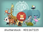 vector illustration card with... | Shutterstock .eps vector #401167225