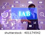 Small photo of IAB or Interactive Advertising Bureau - business concept,image element furnished by NASA
