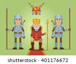illustration of a medieval old... | Shutterstock .eps vector #401176672