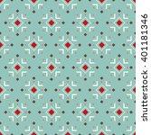 seamless geometric pattern in... | Shutterstock .eps vector #401181346