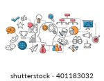 vector illustration of flat... | Shutterstock .eps vector #401183032
