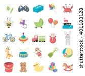 toys icons set. | Shutterstock .eps vector #401183128