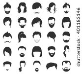 hair icons set. | Shutterstock .eps vector #401183146