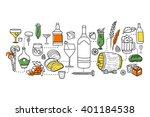 vector illustration of flat... | Shutterstock .eps vector #401184538