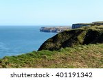 View Of The Coastline At...