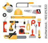 home repair tools icons.... | Shutterstock . vector #401191522